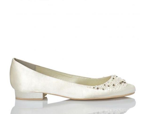 zapatos planos de novia