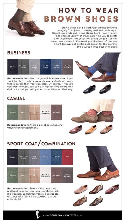 combinar zapatos marrones con traje