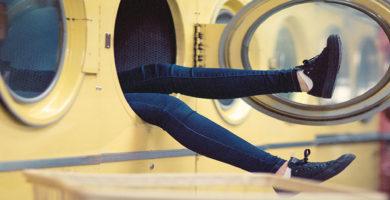 Limpieza de zapatillas a máquina