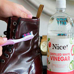 Limpieza de charol con vinagre