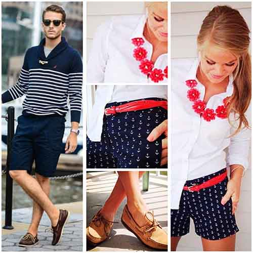 Look veraniego con nauticos marrones