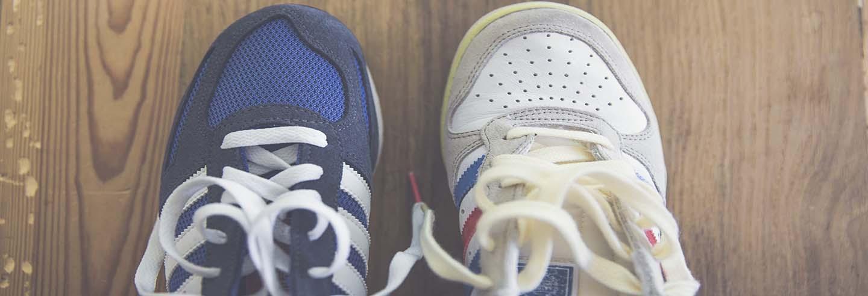 Limpiar diferentes materiales de zapatillas
