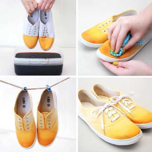 pasos teñir zapatillas