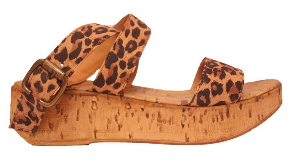 sandalia con suela de corcho
