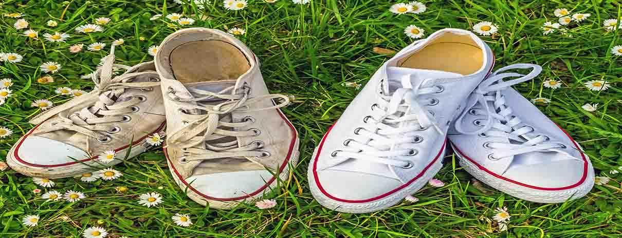 como blanquear zapatillas blancas