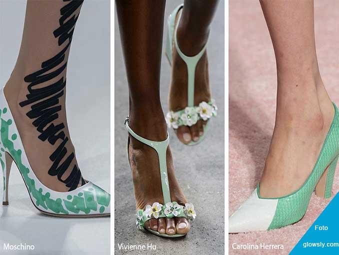 zapatos de tacón verde
