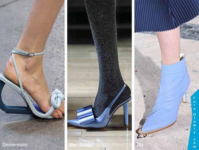 zapatos de tacón azul